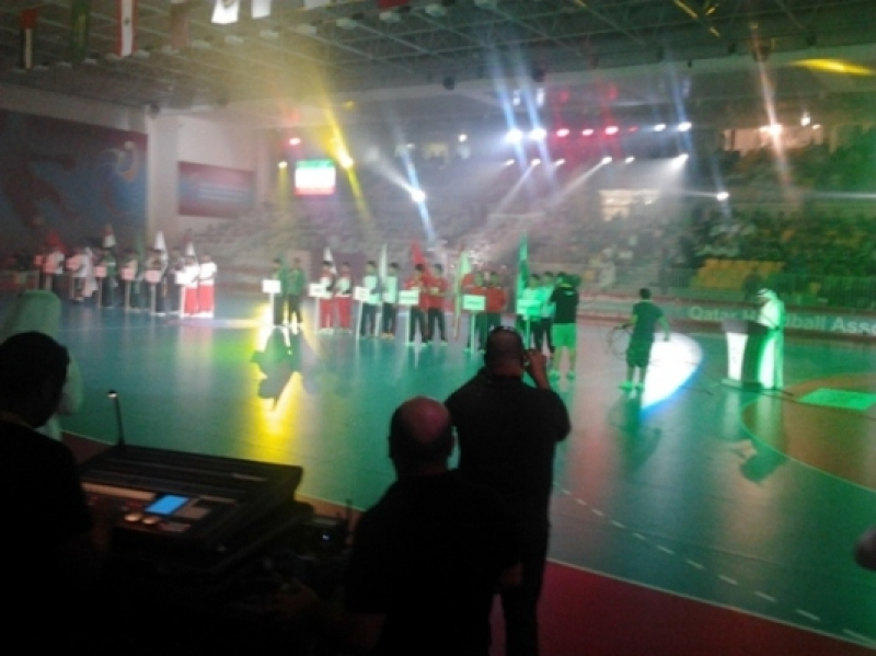 Opening ceremony of the 13th asian men juniors handball championship